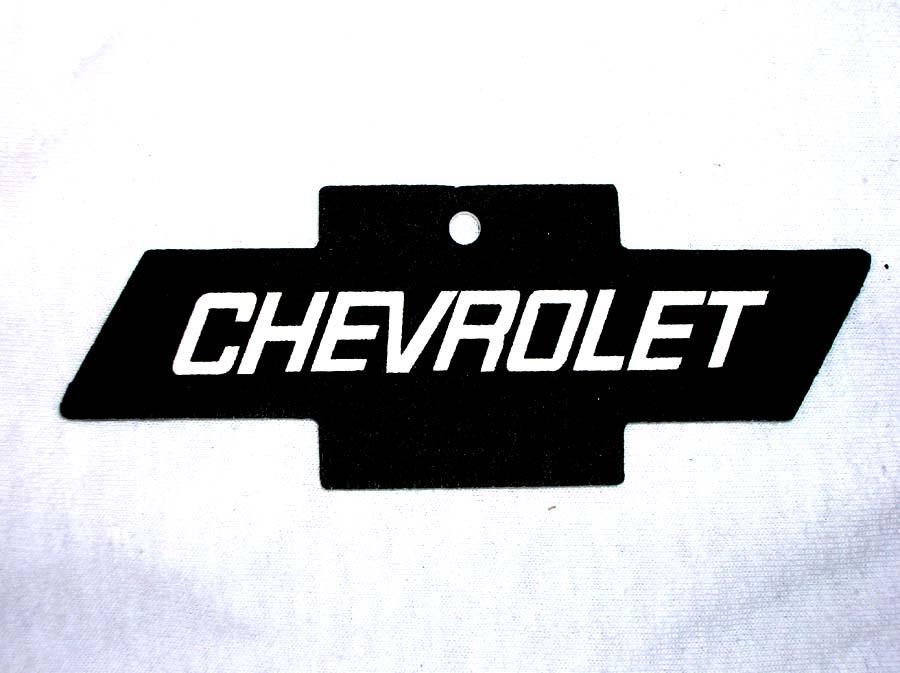 Chevy Bowtie Air Freshener BLACK
