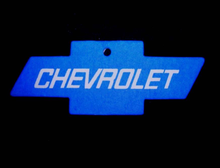 Chevy Bowtie Air Freshener BLUE