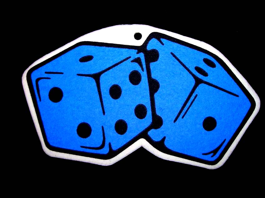 Blue Dice Air Freshener