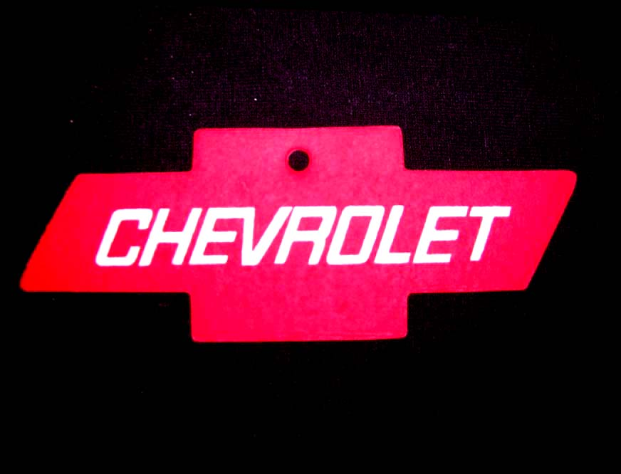 Chevy Bowtie Air Freshener RED