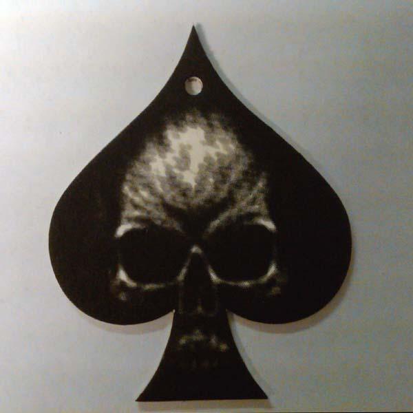 Black Spade Skull Air Freshener