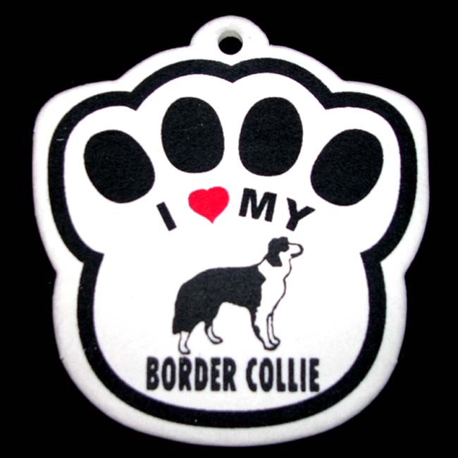 Border Collie Paw Shaped Air Freshener