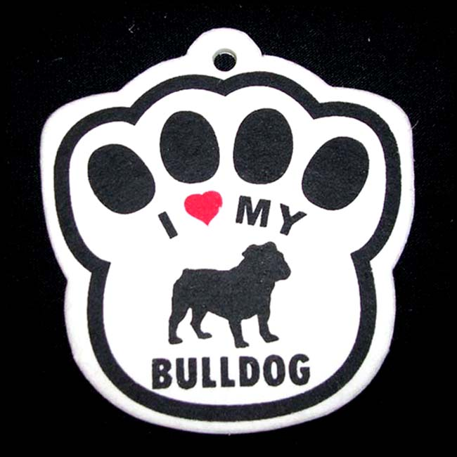 Bulldog Paw Shaped Air Freshener