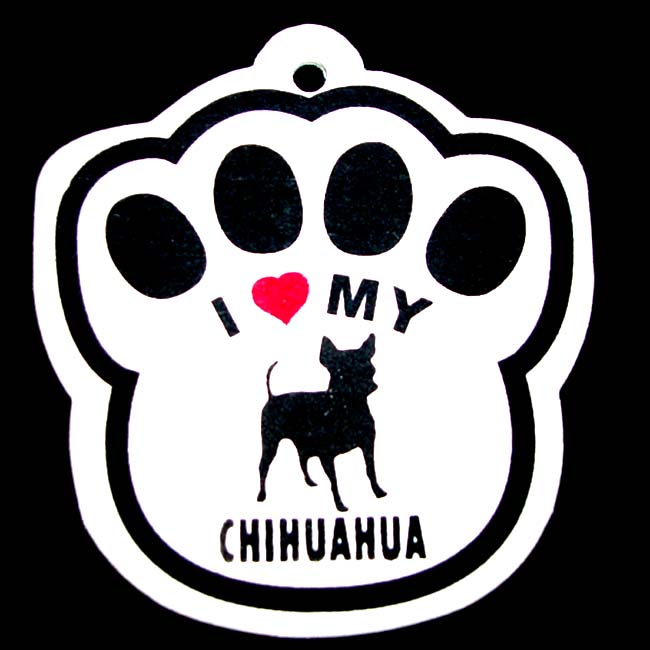 Chihuahua Paw Shaped Car Air Freshener