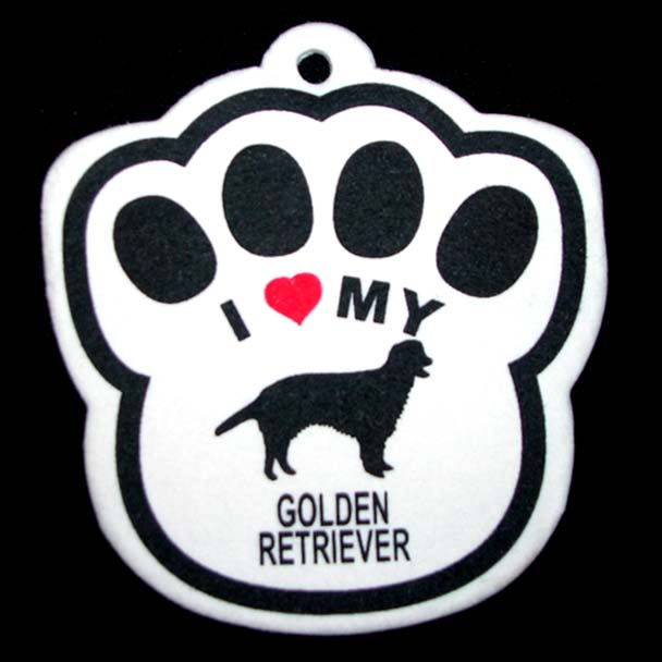 Golden Retreiver Paw Shaped Air Freshener