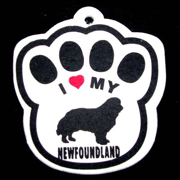 Newfoundland Paw Shaped Car Air Freshener