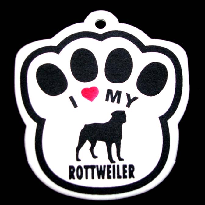 Rottweiler Paw Shaped Air Freshener