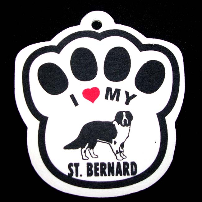 Saint St. Bernard Paw Shaped Car Air Freshener
