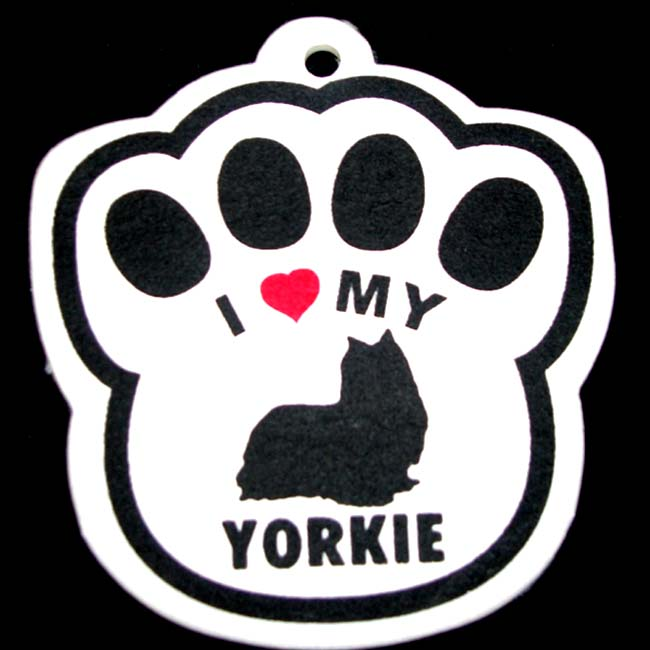 Yorkie Paw Shaped Air Freshener