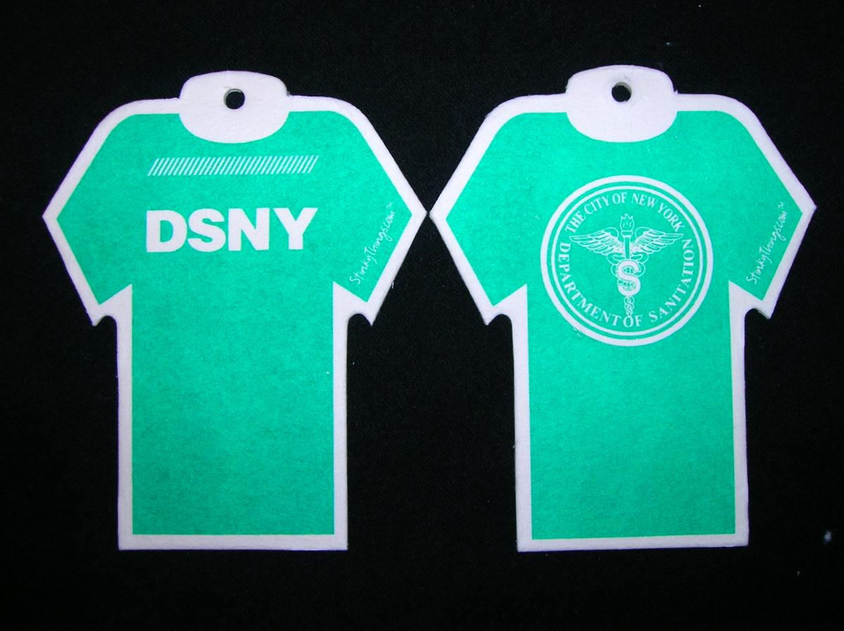 DSNY  Sanitation T-Shirt Car Air Freshener