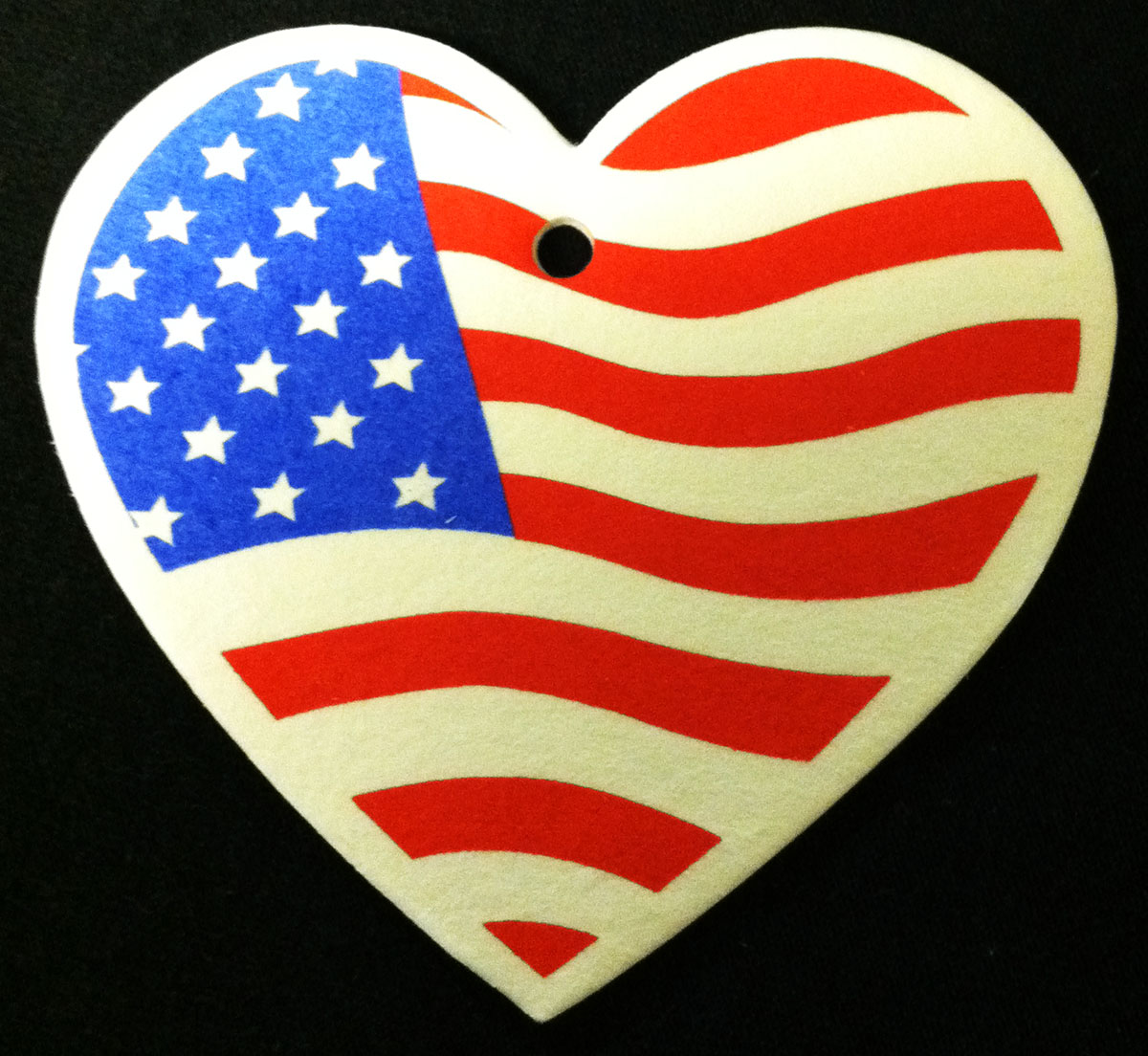 USA Heart Shaped American Flag Car Air Freshener