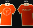 DSNY Sanitation ORANGE T-Shirt Air Freshener
