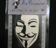 Guy Fawkes Anonymous Car Air Freshener  V for Vendetta